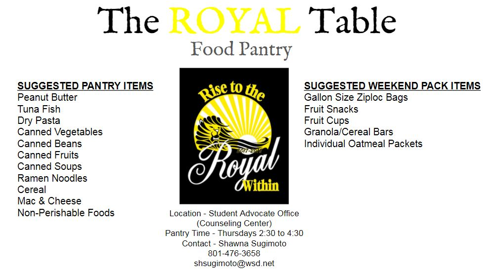 The Round Table food pantry