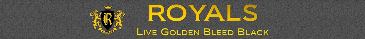 Roy Header: Live Golden Bleed Black